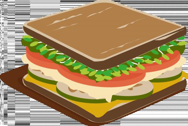 Ein leckeres Sandwich als Analogie zu Sammelbuchungen, haha!