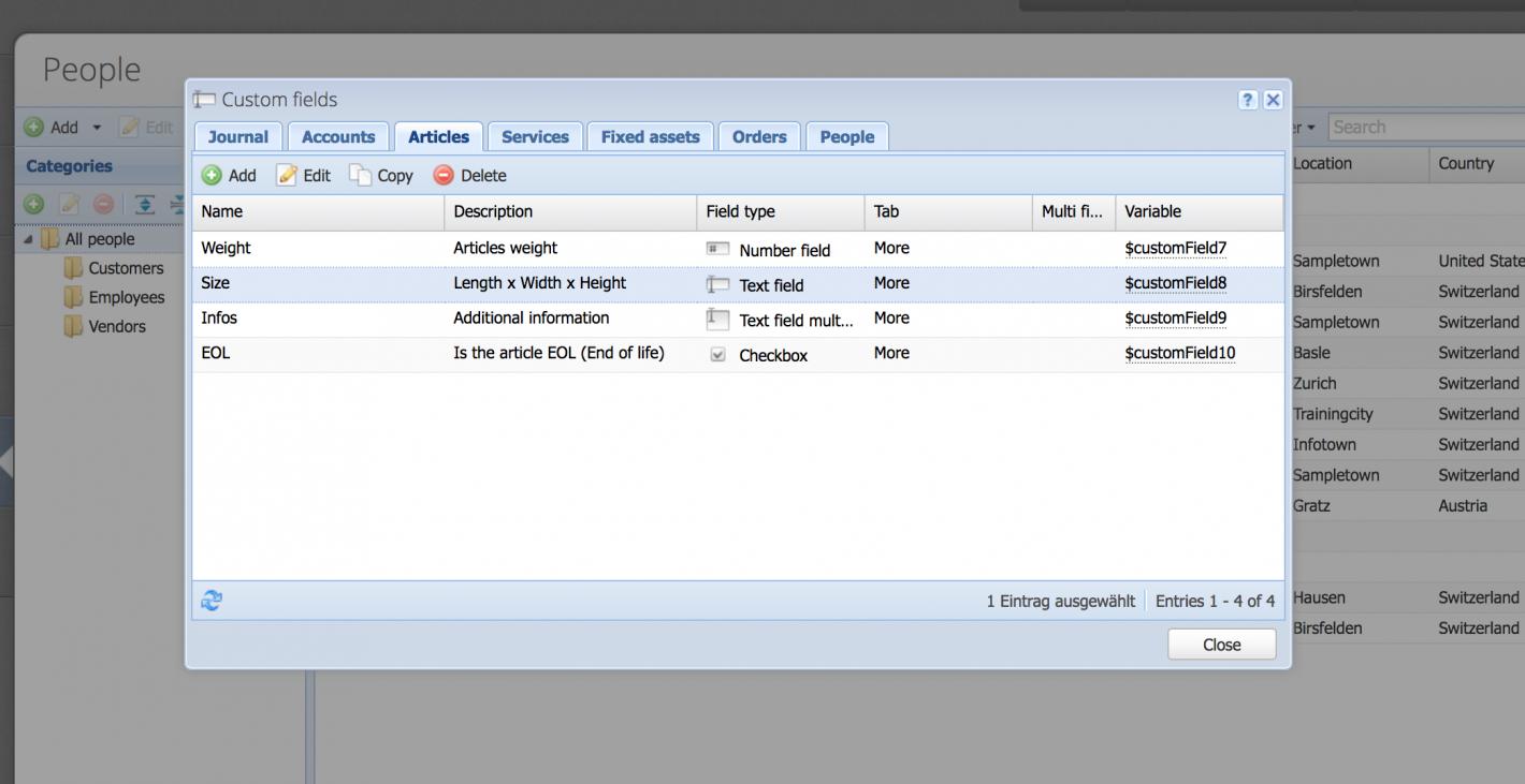 Custom fields overview