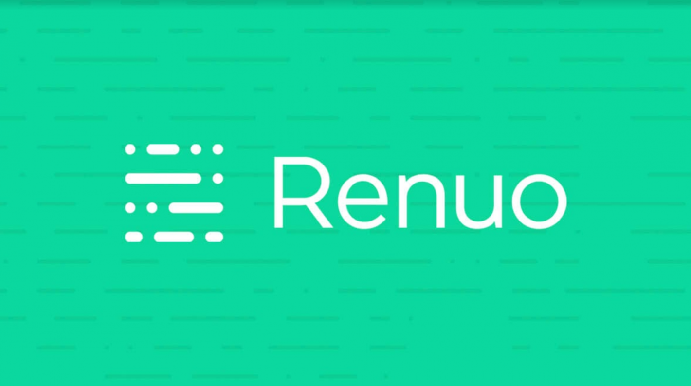 Renuo Logo with stylish background